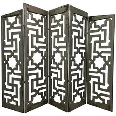 Egyptian Five-Panel Folding Floor Screen