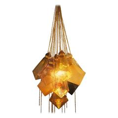 Frda Fjellman, Crystal Sculpture, Chandelier