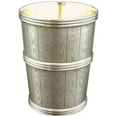 Important & Realistically Modelled Danish Silver .826 Fine Beaker