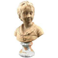 Terracotta Bust of Alexandre Brongniart After Jean-Antoine Houdon, Circa 1870
