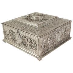 Jewelry Box, Silver Bronze, 19th Century, Napoleon III
