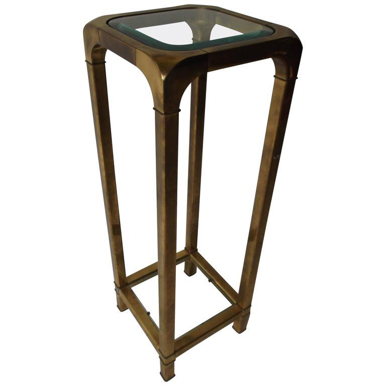 Mastercraft Brass and Glass Pedestal Stand