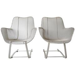 Woodard Sculptura Springer Patio Lounge Chairs
