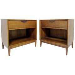 Pair of Mid-Century Modern Nightstands by Merton Gershun for Dillingham Eclipse