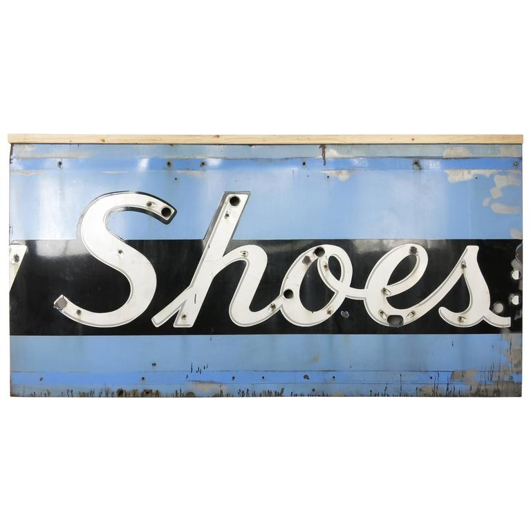 Vintage Brooklyn Shoes Sign, 1950s