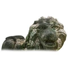 17th Century Japanese Lion Garden Sculpture