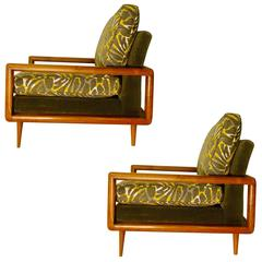 1950s Custom Build 'Architect Specified' Pair of Lounge Chairs, USA