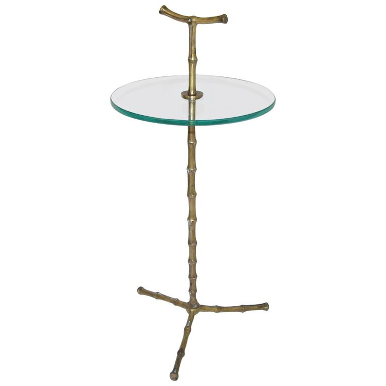 Baguès Faux Bronze Bamboo Side Table
