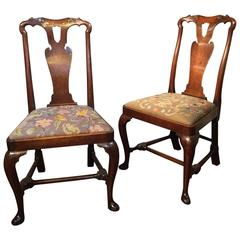 Pair of Early 18th Century Walnut Chairs