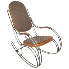 Amazing Mid-Century Modern Rocking Chair in the Style of Thonet