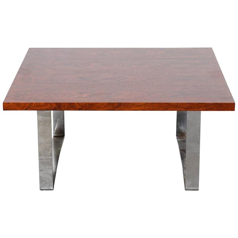 Danish Mid-Century Modern Square Rosewood Coffee Table For