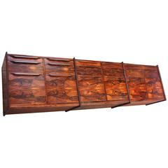Monumental Scandinavian Modern Rosewood Floating Credenza by Ib Juul Christensen