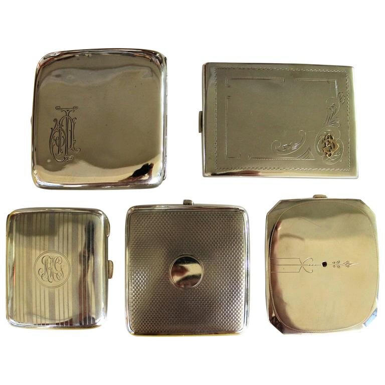 Group of Silver Cigarette Cases