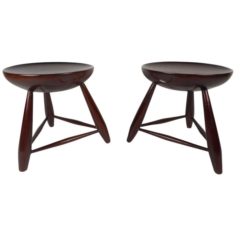 Unusual pair of mid century modern end tables for sale at for Unusual tables for sale
