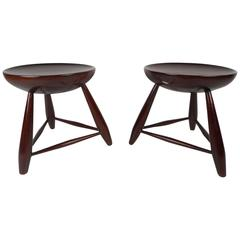 Unusual Pair of Mid-Century Modern End Tables