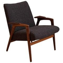 Mid Century Sculptural Teak Lounge Chair by Yngve Ekström for Pastoe