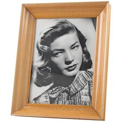 Hollywood Regency Varnished Sycamore Picture Photo Frame, France, circa 1940s