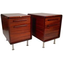 Pair of Danish Rosewood Cabinets or Nightstands