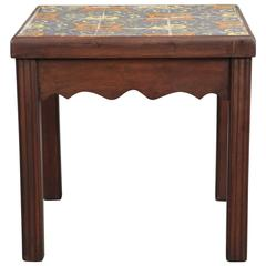 1920s California Tile Table with Nine Tiles