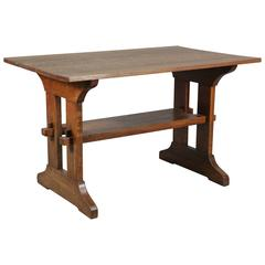 Signed Arts and Crafts Gustav Stickley Library Table