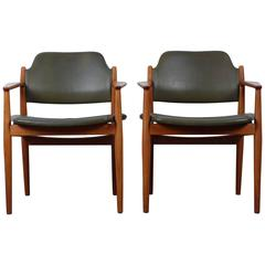 Set of Two Arne Vodder Armchairs in Teak, Model '62A' from Sibast