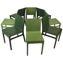 Set of Eight Mid-Century Modern Bentwood Dining Chairs