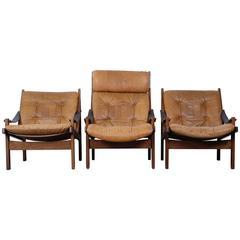 Set of Three Easy Chairs Designed by Torbjørn Afdal