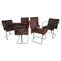 Set of Six Chairs by Saporiti, 1970