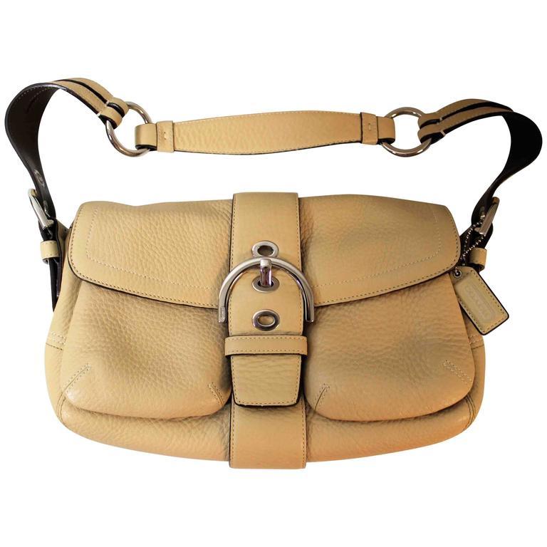 Leather Coach Handbag Or Purse For
