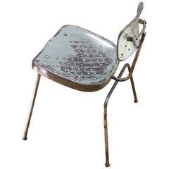 Vintage Industrial Workshop Chair Assemblage Mid-Century Art Deco Parts