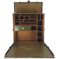 Unusual Portable Ww1 Field Desk Suitcase, Multi-Slots /Drawer by Rogers Madison