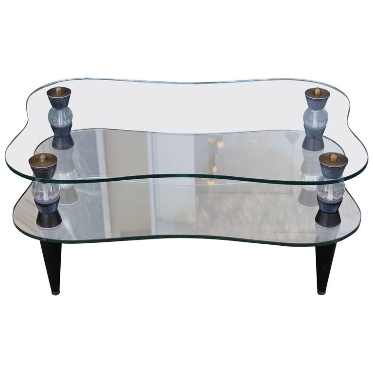 Morris Modern Of California Mirrored Coffee Table For Sale At 1stdibs