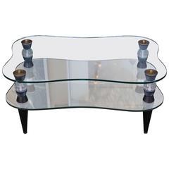 Morris Modern of California Mirrored Coffee Table