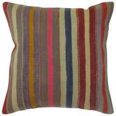 Striped Turkish Kilim Pillow