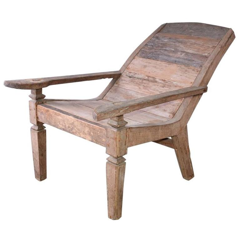 Superbe Anglo Indian Teak Plantation Chair