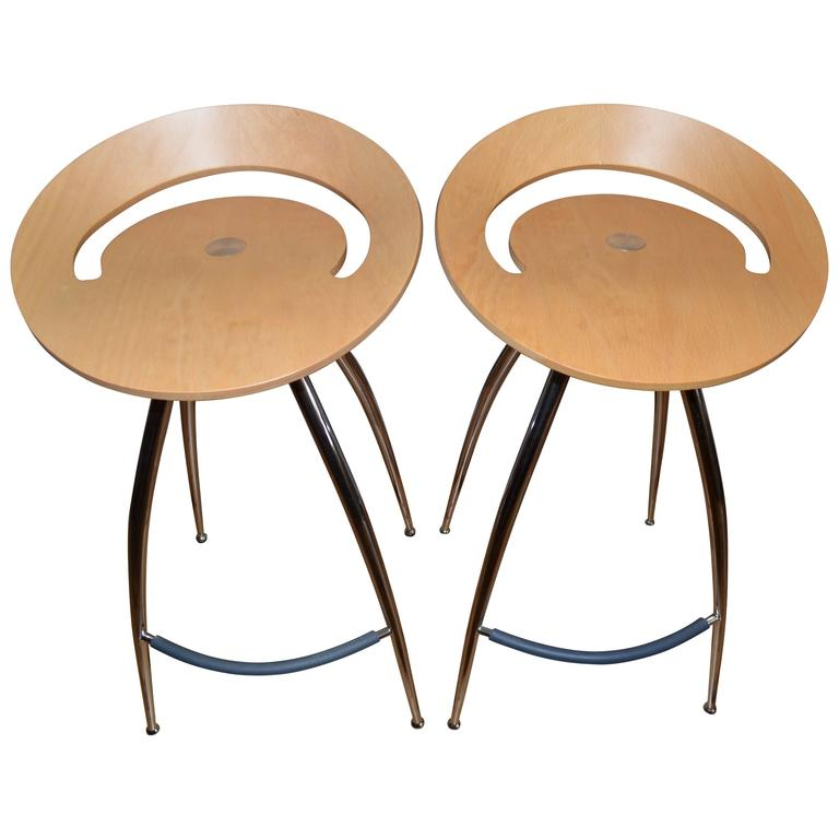 Pair Of Lyra Stools By Magus Design Of Italy Distributed