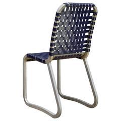 Pittsburgh Range Company Blue and Aluminium Side Chair