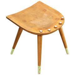 Part of a Vintage McCobb Chair Found Re-Purposed as Garage Shop Stool