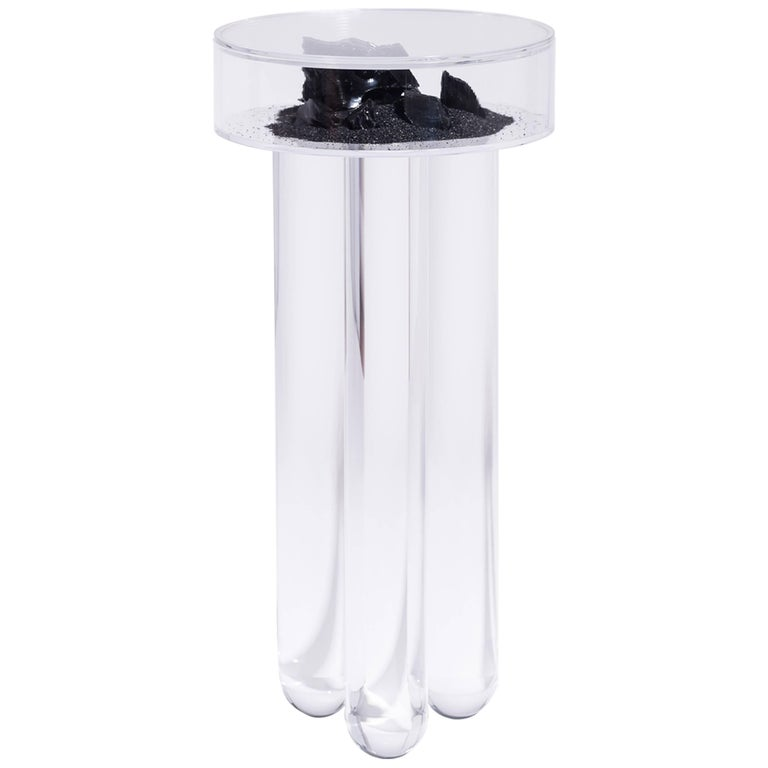 Vacation Table by Another Human, Contemporary Acrylic Side Table, Dark Version For Sale