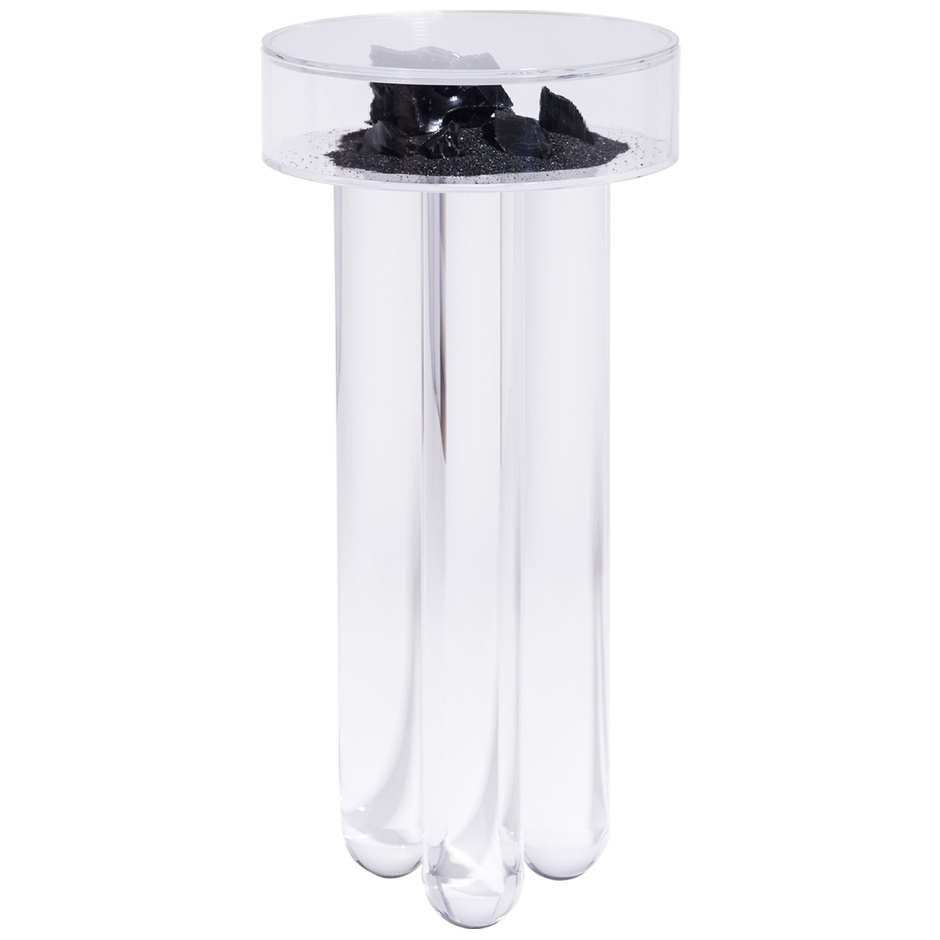 Vacation Table by Another Human, Contemporary Acrylic Side Table, Dark Version