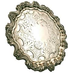 Fine William IV Sterling Silver Footed Salver, Sheffield, 1834