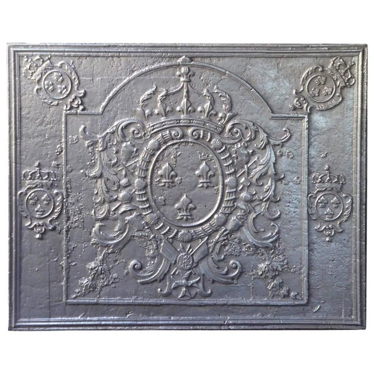 Magnificent 18th Century Arms of France Fireback