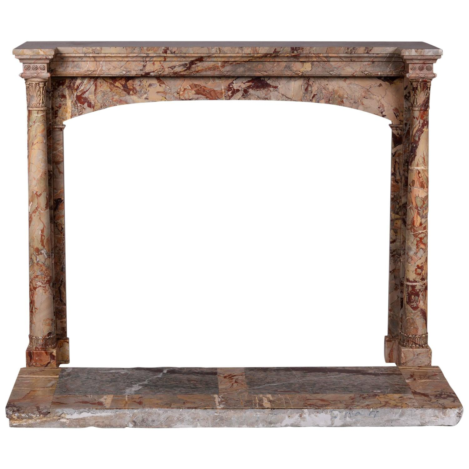 empire style grey marble fireplace for sale at 1stdibs