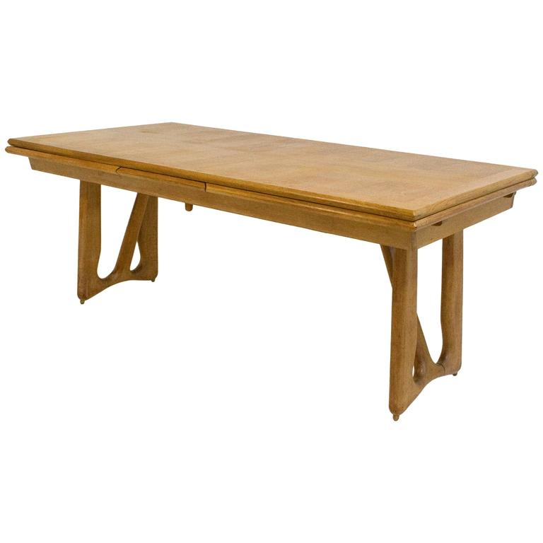 Guillerme et Chambron Oak Leaf Extension Dining Table  : 7780263l from www.1stdibs.com size 768 x 768 jpeg 21kB