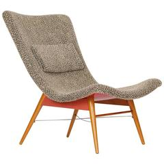 Mid-Century Lounge Chair by Miroslav Navratil for Cesky Nabytek, 1960s