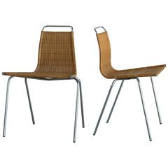 Pair of Poul Kjaerholm PK1 for E. Kold Christensen