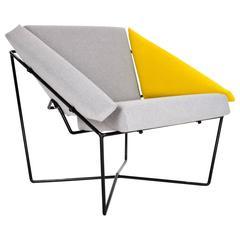 "Easy Chair ""Van Speyk"" by Rob Eckhardt Vintage Post Modern Dutch Design, 1980s"