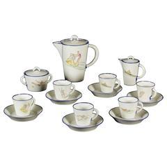 Coffee Service Porcelain by Gio Ponti for Richard Ginori, Italy, 1950s
