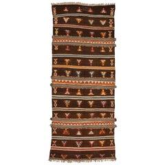 Old Unusual Tribal  Charming Moroccan Rug