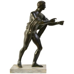 Late 18th or Early 19th Century Grand Tour Bronze Sculpture of Apollo